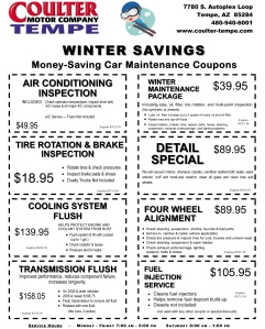 Great specials from our Award Winning Service Department