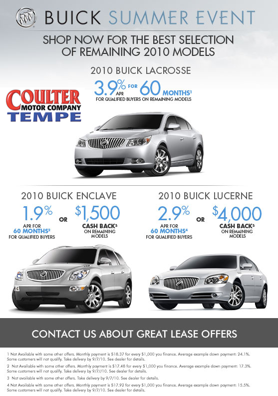 Tempe Buick Dealer Coulter Motor Company