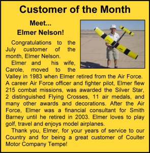 Elmer Nelson - Proud Coulter Customer