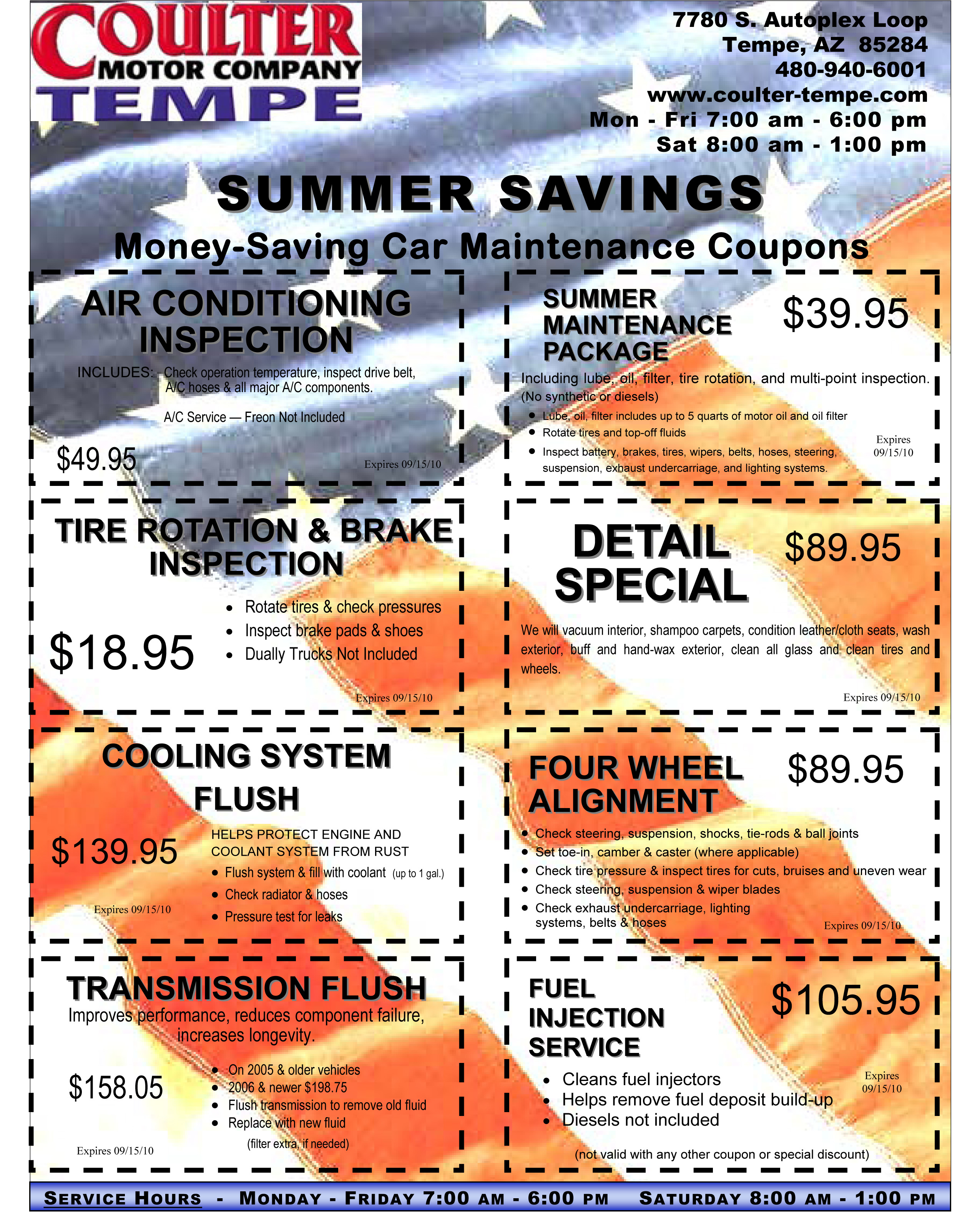 Advertised Specials Coulter Motor Company - Coulter cadillac service